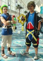 Sora from Kingdom Hearts and and Jak and Daxter by trivto