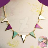 Triangles Necklace by colourful-blossom