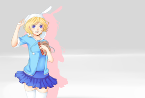 Fionna Wallpaper by tannico-chan