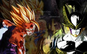 Dekstop Perfect Cell vs Gohan ssj2 -Il Gambero TGA by TheGraphicsArts