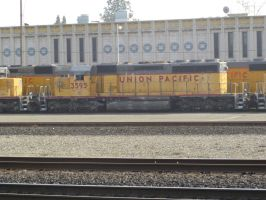 UP SD40-2 3595 by BNSF