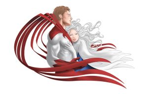 Hawk and Dove II - coloured by Ayhe