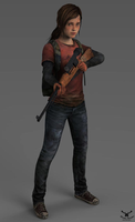 The Last Of Us- Ellie with rifle by Zaza-Boom