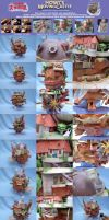Howl Moving Castle papercraft by Rubenandres77