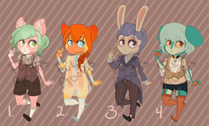 100THEME: FANCY ADOPTABLES | CLOSED! by pulpadopts