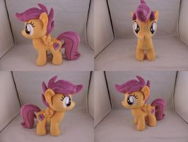 MLP Scootaloo Plush (commission) by Little-Broy-Peep