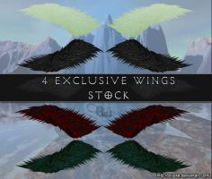 Wings 4 Pack Stock by BrJ-exe