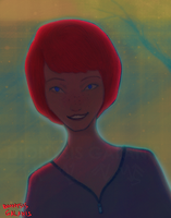 Red haired woman by dionysisgalanis