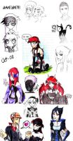 Some characters by Jackce-Art