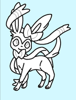 Sylveon Lineart! by The-Insane-Puppeteer