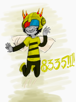 Mituna bee sketch by RetroTrickster