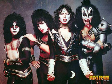 KISS with vinnie vincent and eric carr by leonrock84
