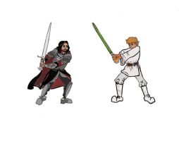 Aragorn Vs Luke Skywalker by FrenchHumorist