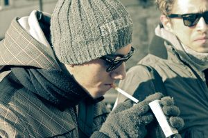 Smoking on a cold day by IntroIuvara