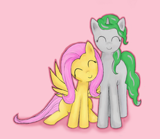 Derpidety and Fluttershy by smileylimey