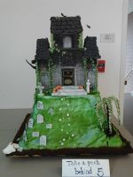 Haunted House Cake (Front) by sunflora263