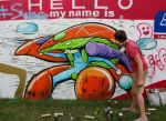 Orb Suit Mural 1 at Bonnaroo 2014 by danomano65