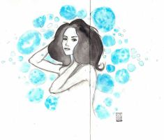 woman in blue by edding142