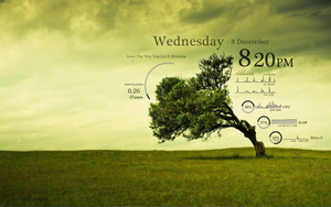Green Tree Rainmeter by sadasas