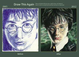 Draw This Again Challenge: Harry Potter by thewholehorizon