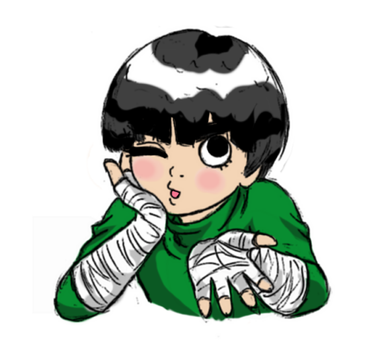 Rock Lee Scribble by sagoma