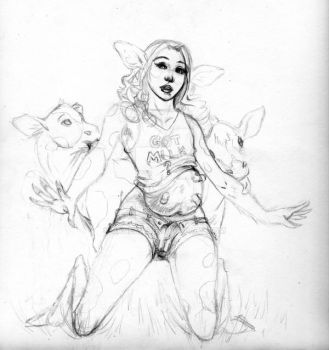 Cow Transformation Rough Sketch by Janexas