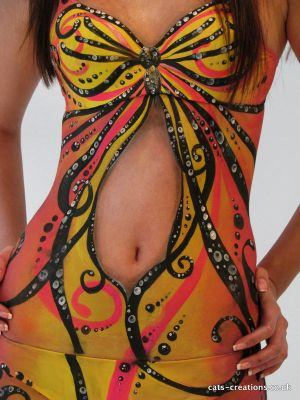 Butterfly Dress Body Painting