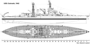 USS Colorado Lineart by Lioness-Nala