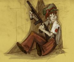 Kids with guns by CurvedCat