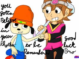 Parappa and Tempo by MrBda241