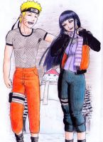 naruhina ( a date in a snowy day) by SaitoGaika