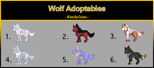 Pixel Wolf Point Adoptables [CLOSED] by KindlyGrim