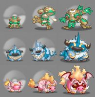 Starter Pokemon Evos by TerryTibke