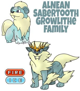 Growlithe Family by ajkent14z