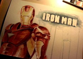 Iron Man - WATERCOLOR by Dunklayth