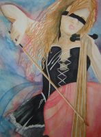watercolor chello girl update by Malici0us