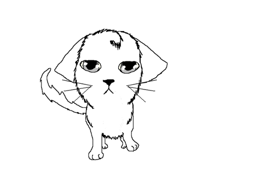 Kitty lineart by CaelynTheHedgehog13