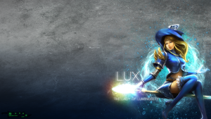 LoL - Sorceress Lux Wallpaper by xRazerxD