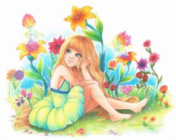 Whimsical Flowers by Sakuems