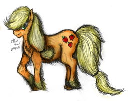 Applejack Speed Sketch - Colored by AncientOwl