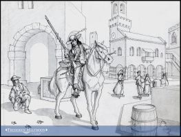 Medieval Scene in Italy by Doc-Halfmoon