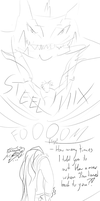 Byron And Steelix- sketches by Weirda208