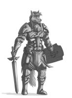 Commission Paladin WIP1 by 7THeaven