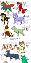 feline and canine adopts by ki-neko-animura