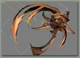 Spikey Trendy Abstract 3d by plan9
