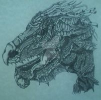 All Ink No Pencil Dragon by jashinist112