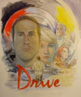 drive painted poster by scuttered