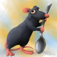 Rat in the kitchen by Ribera
