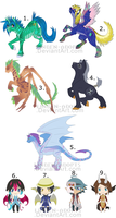 OPEN: Mixed Adoptables 002 by Linden-Adopts