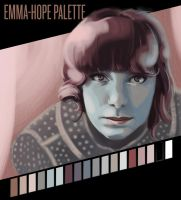 Emma-Hope Portrait and Palette by cluis